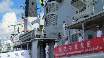 Китайский военный корабль. Архивное фото.