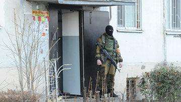Сотрудник спецподразделения МВД в Нальчике. Архивное фото