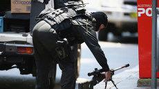 Снайпер возле кафе в Сиднее, где неизвестный держит заложников. Архивное фото