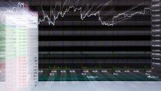 Экран с биржевыми графиками. Архивное фото