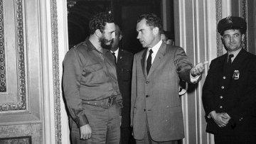 Премьер-министр Кубы Фидель Кастро и вице-президент США Ричард Никсон. 1959. Архивное фото