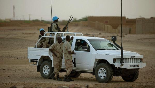Автомобиль миротворцев ООН в городе Кидаль, Мали. Архивное фото