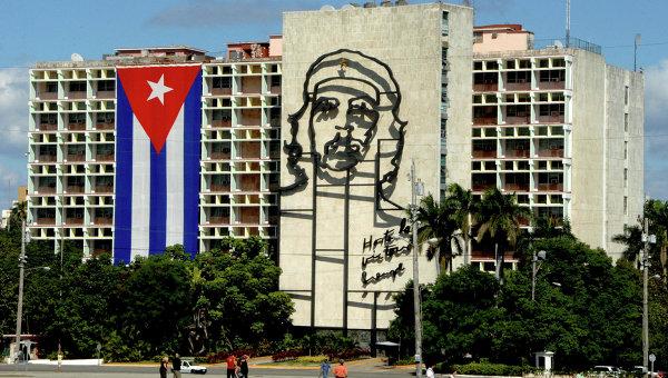 Гавана. Площадь Революции. Здание Министерства внутренних дел Республики Куба. Архивное фото