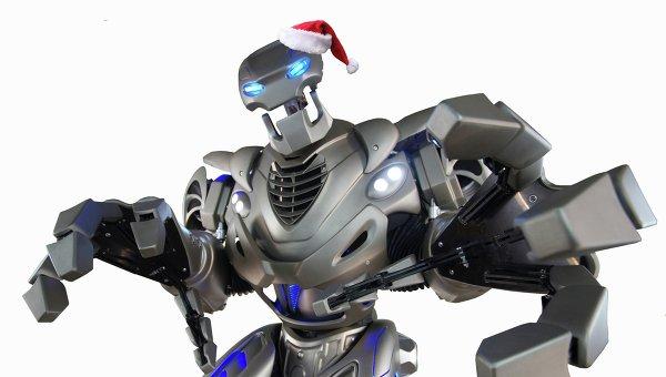 Английский робот Титан прилетел в Москву на Робоелку в Сокольниках
