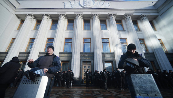Протестные акции в центре Киева. Архивное фото.