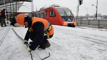 Реконструкция Малого кольца Московской железной дороги. Архивное фото