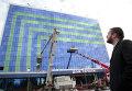 Восстановленный после теракта дом печати в Грозном.=