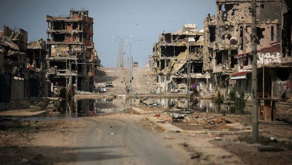 Разрушенные здания в Ливии. Архивное фото