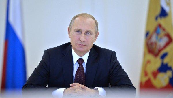 Президент России Владимир Путин.Архивное фото.