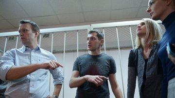 Оглашение приговора братьям Навальным в Замоскворецком суде. 30 декабря 2014