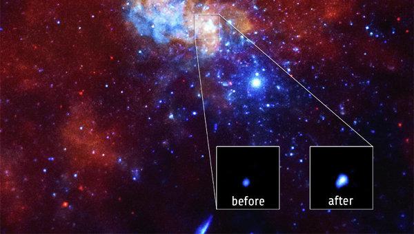 Выброс из сверхмассивной черной дыры в центре Млечного Пути