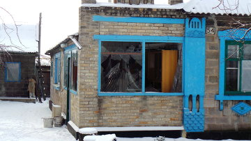 Последствия обстрела Донецка украинскими силовиками