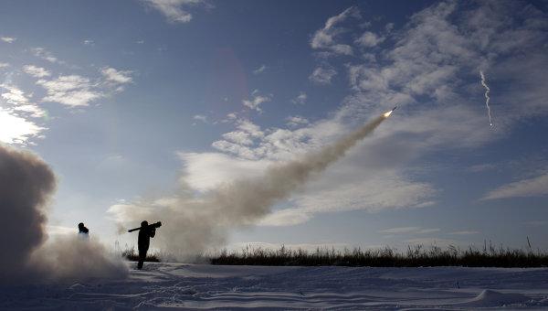 Украинские военнослужащий в Луганской области. Архивное фото