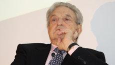 Американский предприниматель и филантроп Джордж Сорос. Архивное фото