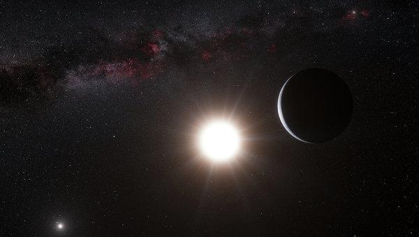 Рисунок экзопланеты, которая обращается вокруг звезды Альфа Центавра B