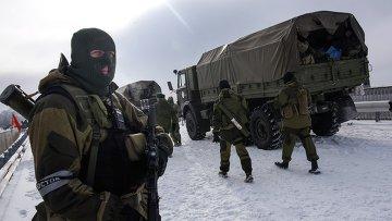 Ополченцы в районе Донецка. Архивное фото
