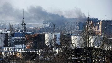 Вид на здание аэропорта Донецка