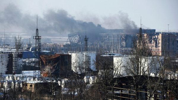 Вид на здание аэропорта Донецка. Архивное фото