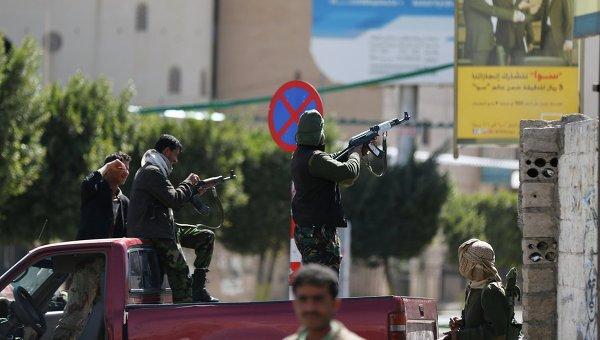 Шиитские повстанцы-хуситы на улицах Саны. 19 января 2015