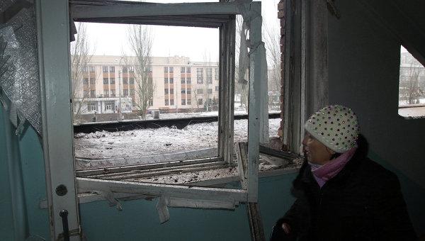 Женщина в больнице, пострадавшей в результате обстрела Донецка украинской армией. Архивное фото