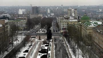 Вид на центр Донецка. Архивное фото