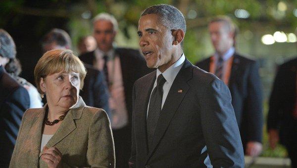 Президент США Барак Обама и Федеральный канцлер Германии Ангела Меркель. Архивное фото