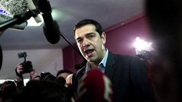 Лидер оппозиционной партии СИРИЗА Алексис Ципрас . Архивное фото