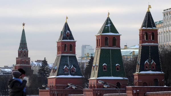 Вид на Московский Кремль. Архивное фото
