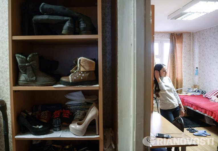 Студенты в общежитии Российского университета дружбы народов