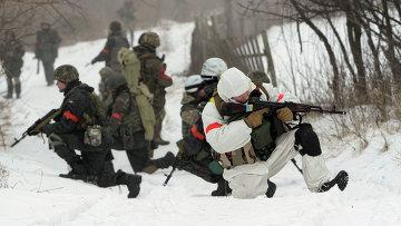 Бойцы батальона Донбасс возле города Лисичанск Луганской области, Украина
