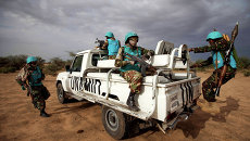Патруль совместной миротворческой миссии Африканского cоюза и ООН (ЮНАМИД). Судан, архивное фото
