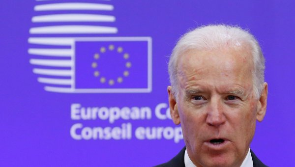 Вице-президент США Джо Байден в штаб-квартире ЕС в Брюсселе