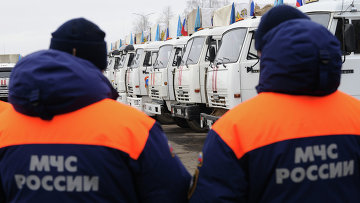 Тринадцатый гуманитарный конвой для юго-востока Украины