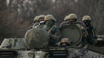 Военнослужащие украинской армии в Дебальцево