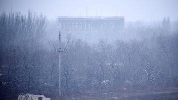 Донецкий казенный завод химических изделий после обстрела. 8 февраля 2015