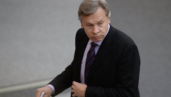 Председатель комитета Государственной Думы РФ по международным делам Алексей Пушков . Архивное фото