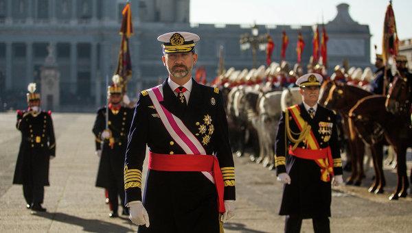Король Испании Фелипе VI. Архивное фото