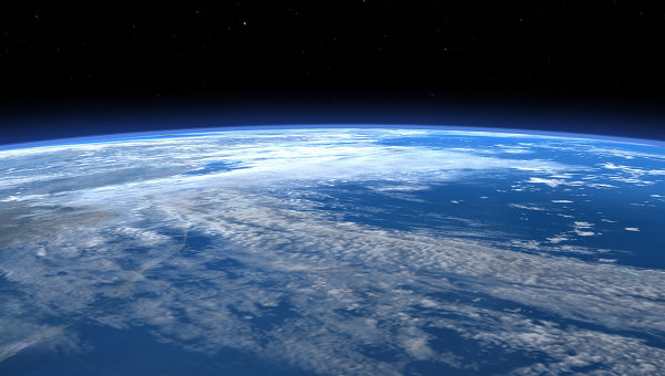 Вид на планету Земля из космоса. Архивное фото.