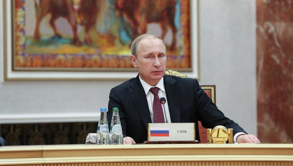 Президент России Владимир Путин во Дворце независимости в Минске