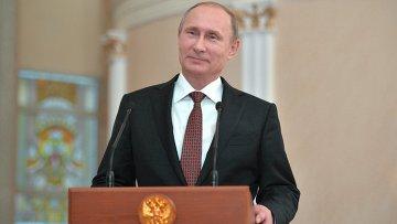 Пресс-конференция президента РФ В. Путина по итогам переговоров в Минске