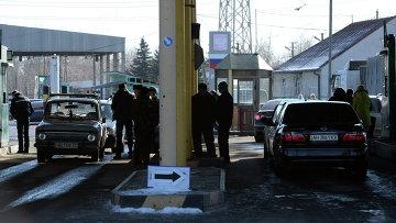 Пропускной пункт Успенка в Донецкой области на границе Украины с Россией. Архивное фото