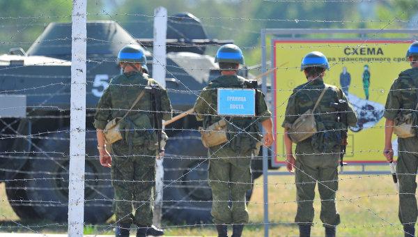 Российские миротворцы. Архивное фото