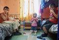 Украинские дети в лагере беженцев в Ростовской области