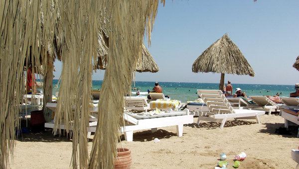 Пляж в египетской Хургаде. Архивное фото