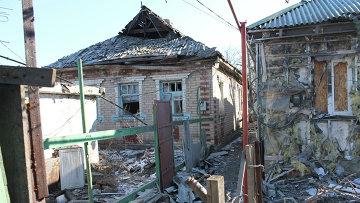 Последствия обстрелов Горловки. Архивное фото