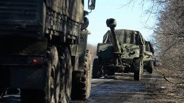 Тяжелая военная техника в зоне конфликта. ДНР. Архивное фото