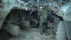 Ополченцы на заводе в Донецке ремонтировали брошенные силовиками танки