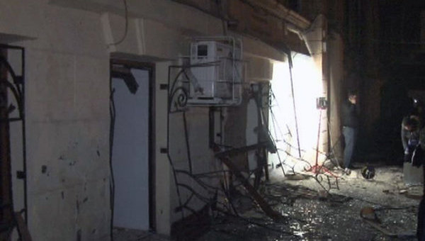 На месте взрыва в жилом доме в Одессе