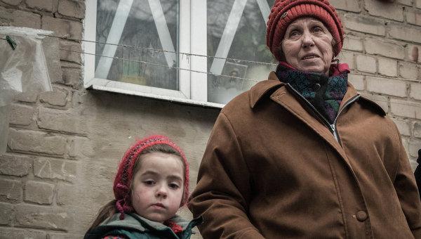 Жители Дебальцево. Архивное фото