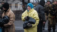Пенсионер на Украине. Архивное фото
